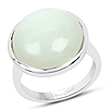 10.62 Carat Genuine White Moonstone .925 Sterling Silver Ring