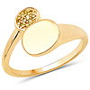 18K Yellow Gold Plated 0.05 Carat Genuine Yellow Diamond .925 Sterling Silver Ring