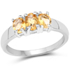 1.09 Carat Genuine Citrine .925 Sterling Silver Ring