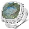 10.20 Carat Genuine Labradorite .925 Sterling Silver Ring