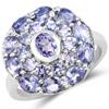 2.73 Carat Genuine Tanzanite .925 Sterling Silver Ring