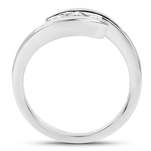 0.26 Carat Genuine White Diamond 14K White Gold Ring (E-F Color, SI Clarity)