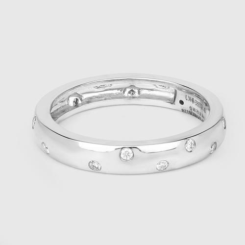 0.15 Carat Genuine White Diamond 14K White Gold Ring (E-F Color, VS-SI Clarity)