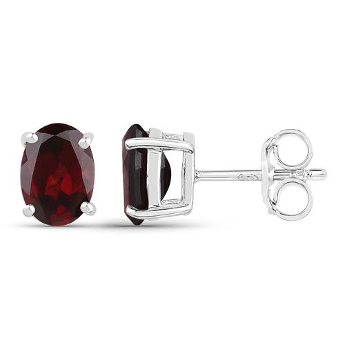 4.32 Carat Genuine Garnet .925 Sterling Silver Jewelry Set