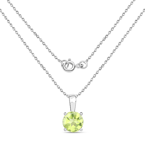 2.27 Carat Genuine Peridot .925 Sterling Silver Jewelry Set