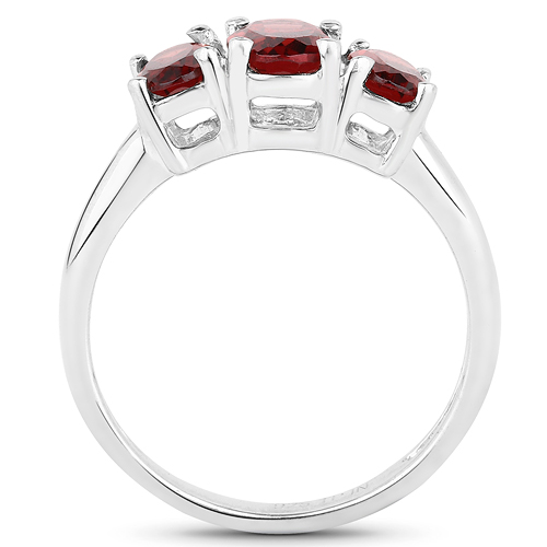 2.03 Carat Genuine Garnet .925 Sterling Silver Ring