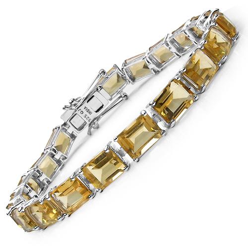 33.60 Carat Genuine Citrine .925 Sterling Silver Bracelet