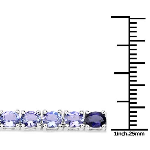 12.04 Carat Genuine Multi Stone .925 Sterling Silver Bracelet