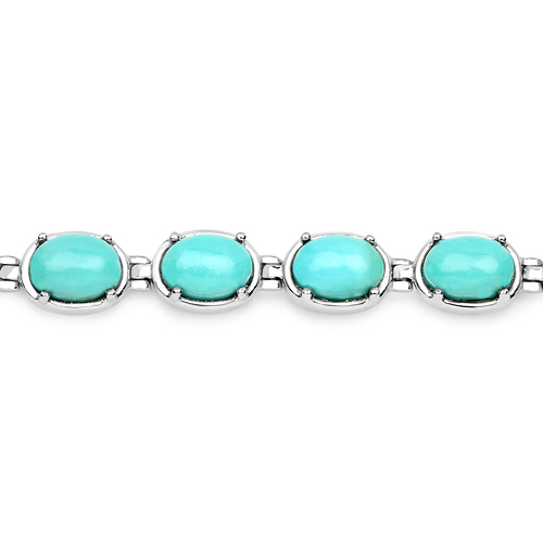 13.92 Carat Genuine Turquoise .925 Sterling Silver Bracelet