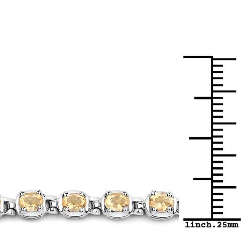 4.16 Carat Genuine Citrine .925 Sterling Silver Bracelet