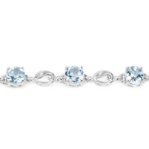 10.50 Carat Genuine Blue Topaz Sterling Silver Bracelet