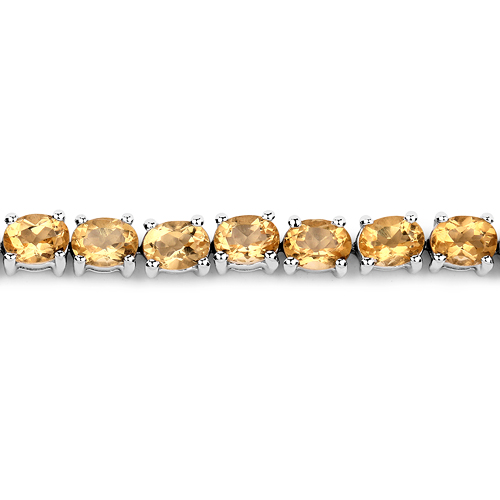 7.20 Carat Genuine Citrine .925 Sterling Silver Bracelet