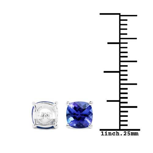 1.90 Carat Genuine Tanzanite 14K White Gold Earrings