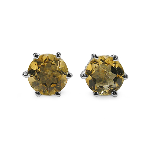 Citrine-1.54 Carat Genuine Citrine .925 Sterling Silver Earrings