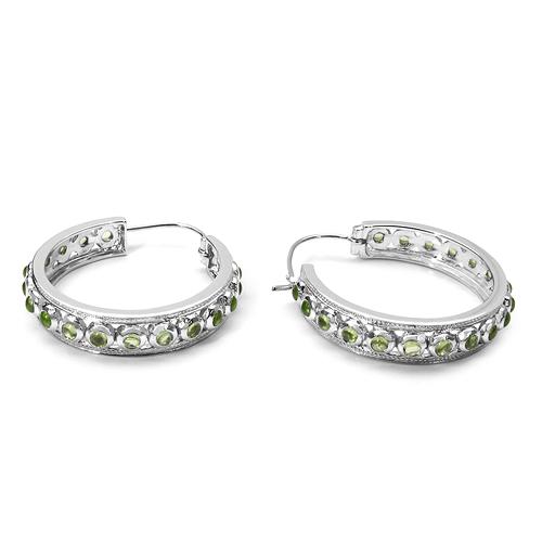 4.32 Carat Genuine Peridot .925 Sterling Silver Earrings