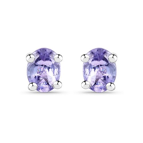 0.34 Carat Genuine Tanzanite .925 Sterling Silver Earrings