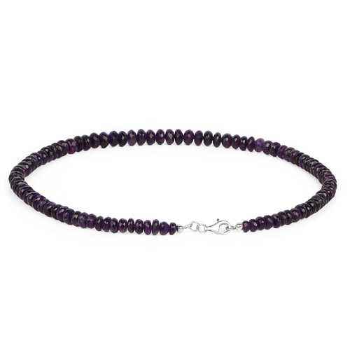 210.00 Carat Genuine Amethyst .925 Sterling Silver Necklace