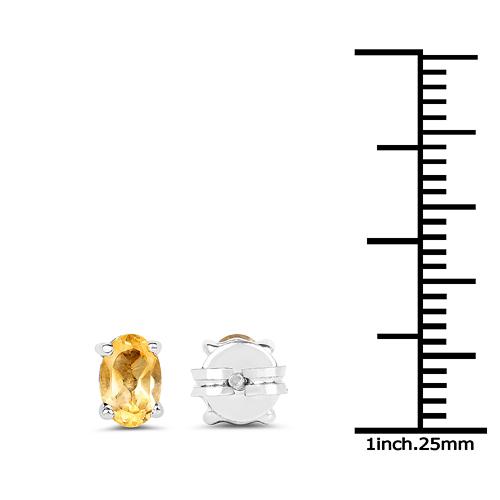 0.91 Carat Genuine Citrine .925 Sterling Silver Earrings