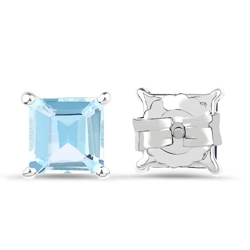 2.50 Carat Genuine Blue Topaz .925 Sterling Silver Earrings