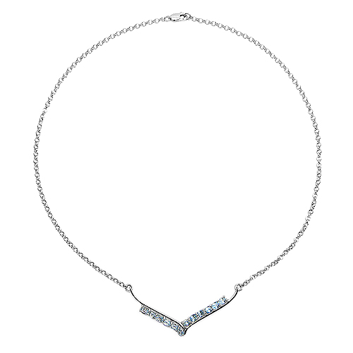 5.00 Carat Genuine Blue Topaz .925 Sterling Silver Necklace