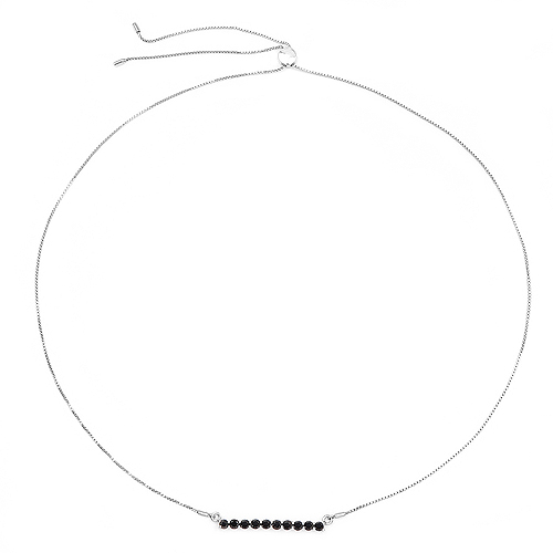1.47 Carat Genuine Black Diamond .925 Sterling Silver Necklace