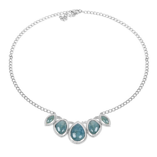 31.15 Carat Genuine Aquamarine .925 Sterling Silver Necklace