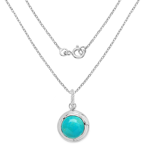 8.05 Carat Genuine Turquoise .925 Sterling Silver Pendant