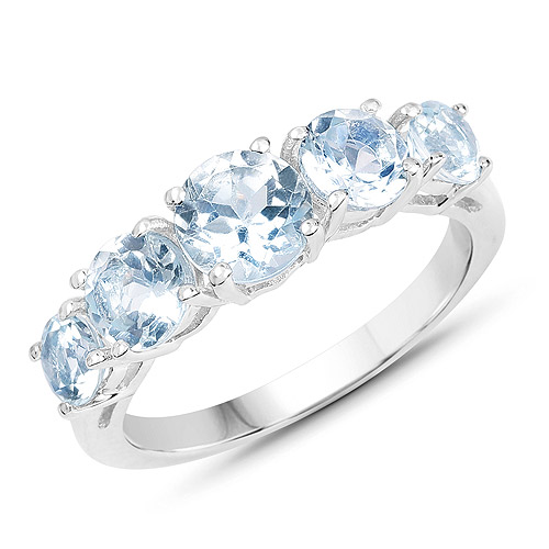 Rings-3.00 Carat Genuine Blue Topaz .925 Sterling Silver Ring