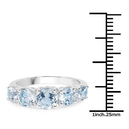 3.00 Carat Genuine Blue Topaz .925 Sterling Silver Ring