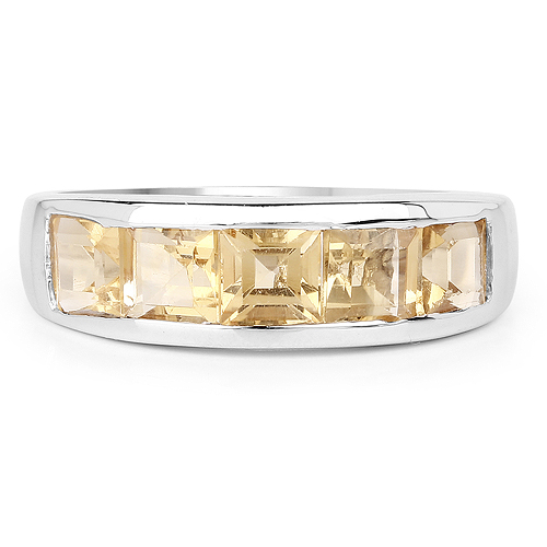 2.00 Carat Genuine Citrine .925 Sterling Silver Ring