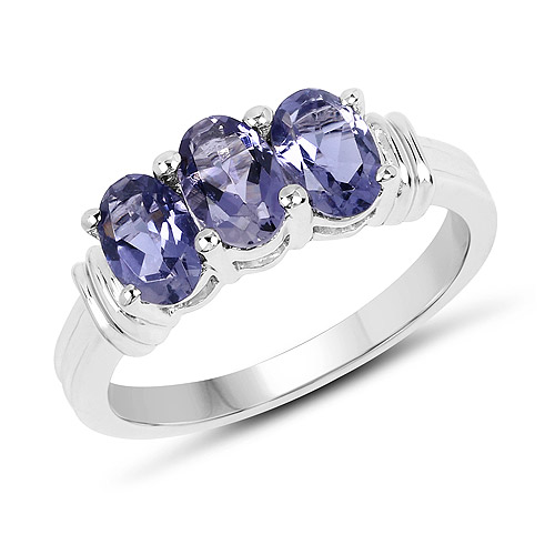 Rings-1.23 Carat Genuine Iolite .925 Sterling Silver Ring