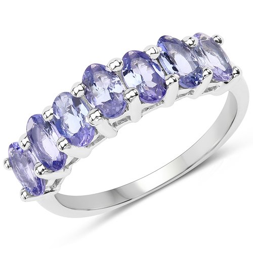 Tanzanite-1.75 Carat Genuine Tanzanite .925 Sterling Silver Ring