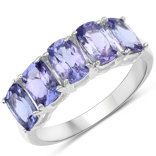 Tanzanite-2.65 Carat Genuine Tanzanite .925 Sterling Silver Ring