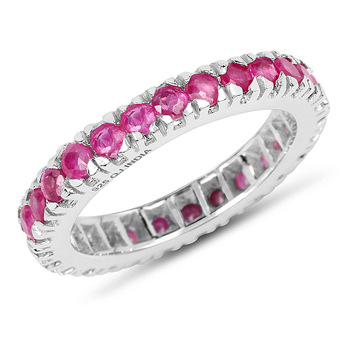 Ruby-2.16 Carat Genuine Ruby .925 Sterling Silver Ring