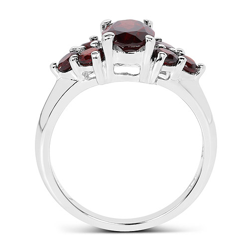 2.38 Carat Genuine Garnet .925 Sterling Silver Ring