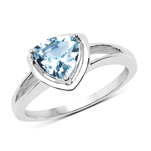 Rings-1.25 Carat Genuine Blue Topaz .925 Sterling Silver Ring