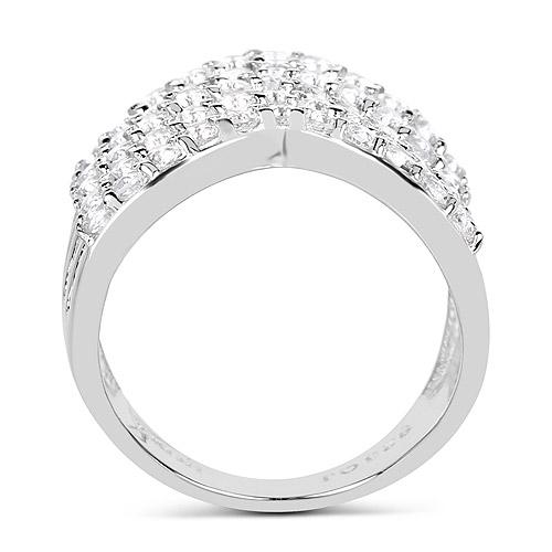 2.20 Carat Genuine White Topaz .925 Sterling Silver Ring
