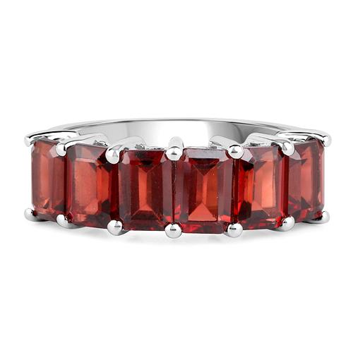 4.80 Carat Genuine Garnet .925 Sterling Silver Ring