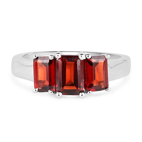 2.80 Carat Genuine  Garnet .925 Sterling Silver Ring