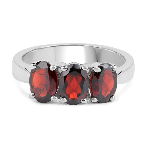 2.85 Carat Genuine Garnet .925 Sterling Silver Ring