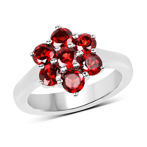 Garnet-2.24 Carat Genuine  Garnet .925 Sterling Silver Ring