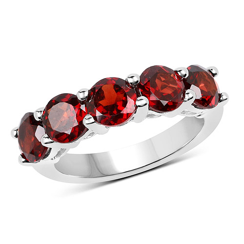 Garnet-3.75 Carat Genuine  Garnet .925 Sterling Silver Ring