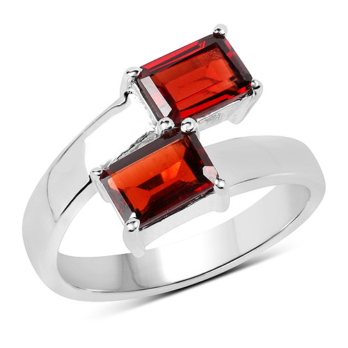 Garnet-2.40 Carat Genuine  Garnet .925 Sterling Silver Ring
