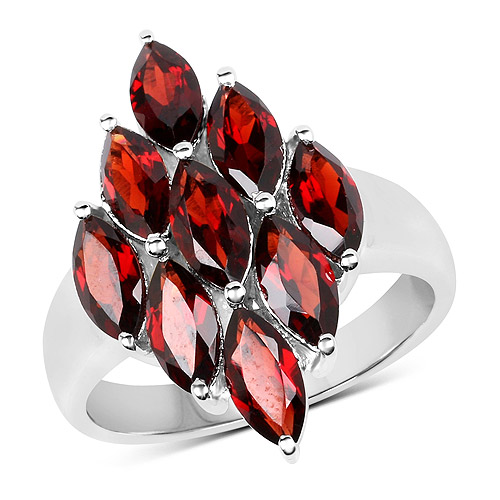 Garnet-4.77 Carat Genuine  Garnet .925 Sterling Silver Ring
