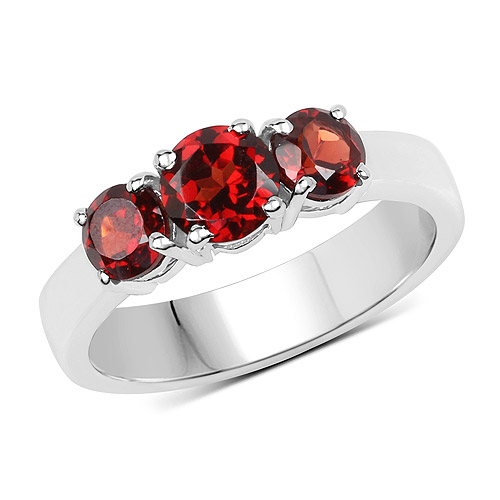 Garnet-1.65 Carat Genuine  Garnet .925 Sterling Silver Ring