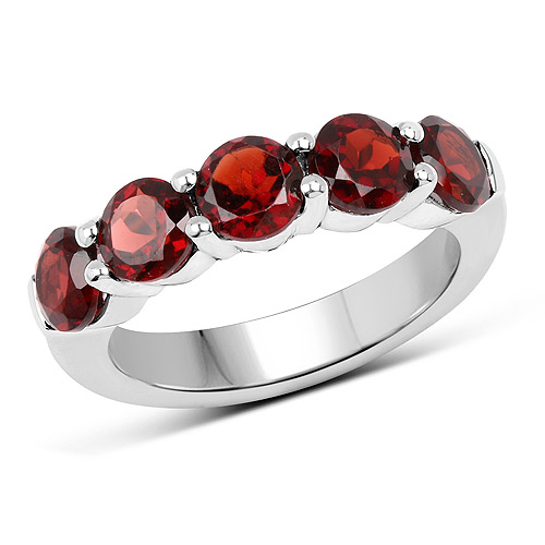 Garnet-2.90 Carat Genuine  Garnet .925 Sterling Silver Ring