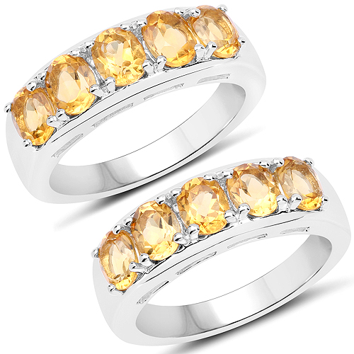 1.65 Carat Genuine Citrine .925 Sterling Silver Ring