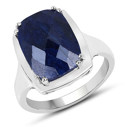 Sapphire-8.35 Carat Dyed Sapphire .925 Sterling Silver Ring