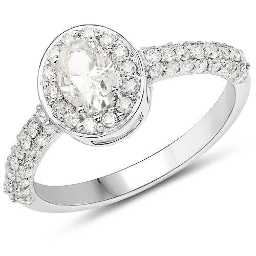Diamond-14K White Gold 1.27 Carat Genuine White Diamond Ring