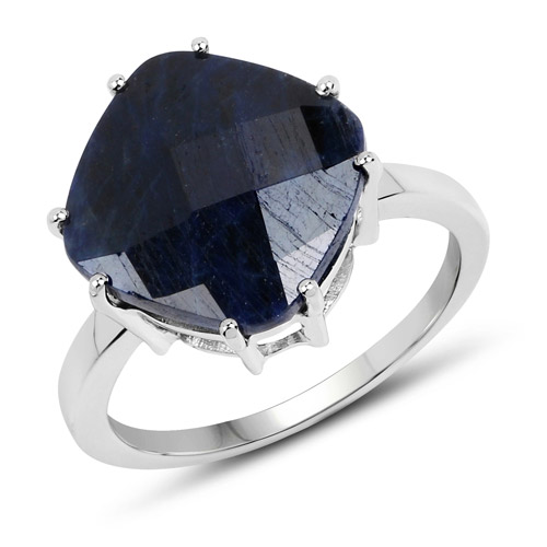 Sapphire-7.90 Carat Dyed Sapphire .925 Sterling Silver Ring